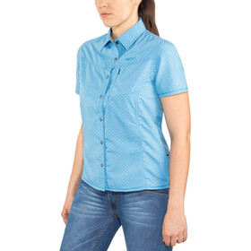 Meru Melissia Functional SS Blouse Women ethereal blue